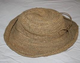 The Scala Collection Womens Straw Hat Beach Sun Tea Natural Raffia Rolle... - $24.05