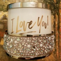 Bath & Body Works I LOVE YOU Candle 3 Wick Candle Holder Wedding Anniversary  - $69.29