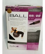 "ZENZU ANTIBURST exercise BALL Sports  Series Zenzu Pro 22"" with pump - $28.04"