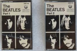 Beatles White Album Part 1 & Part 2 cassettes, Apple AXW-160 & -161, TES... - $22.69