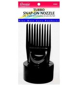 Annie Turbo Snap On Hair Dryer Pik Black #3002 - $5.89