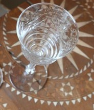"2  VINTAGE CRYSTAL GLASSES 6 5/8"" H - $34.99"