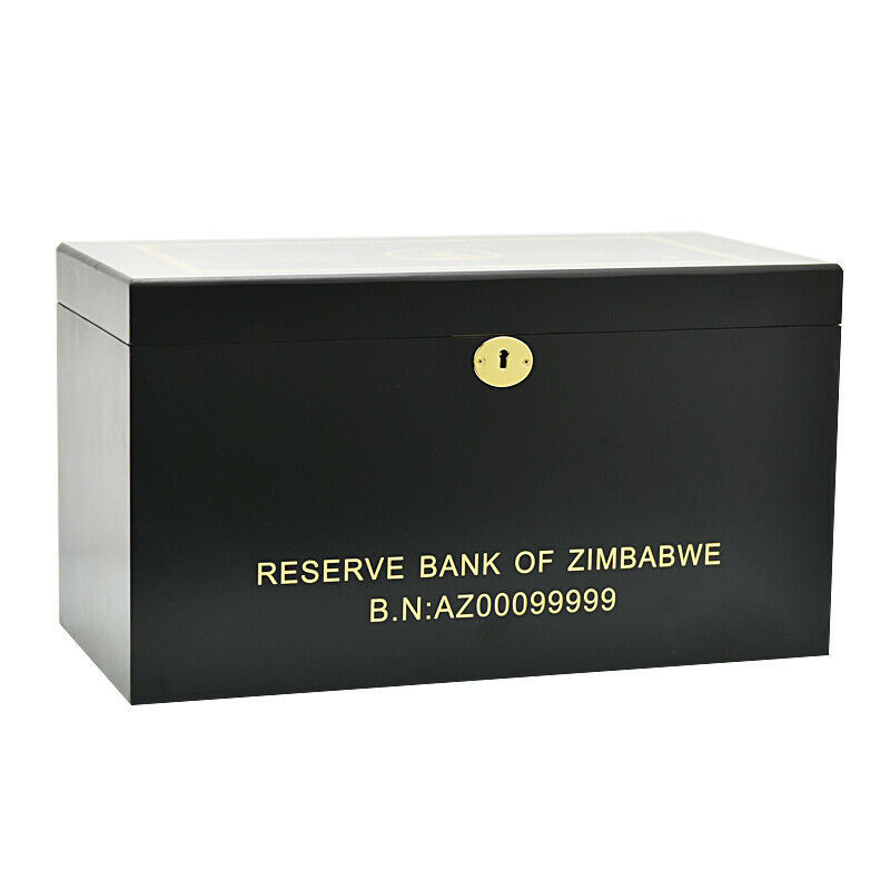 WR 1000pcs Elephant Zimbabwe 5 Octillion Dollars Color Gold Banknote With Box