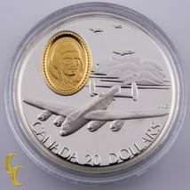 """1990 Canada Sterling Silver """"The Lancaster"""" $20 Dollars Commemorative w/ CoA Box - $123.75"""