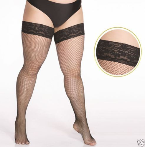 59505899a47 fishnet stockings Hold Ups plus size 4X 5X 7X special size for BBW