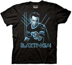 The Big Bang Theory, TRON Style Glowing Sheldon Pointing T-Shirt NEW UNWORN - $14.50