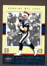 2002 FLEER GENUINE FOOTBALL #43 TOM BRADY CARD- NEW ENGLAND PATRIOTS! - $9.85