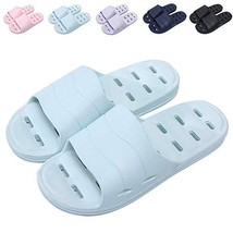 Shower Sandal Slippers with Drainage Holes Quick Drying Bathroom Slipper... - $11.78