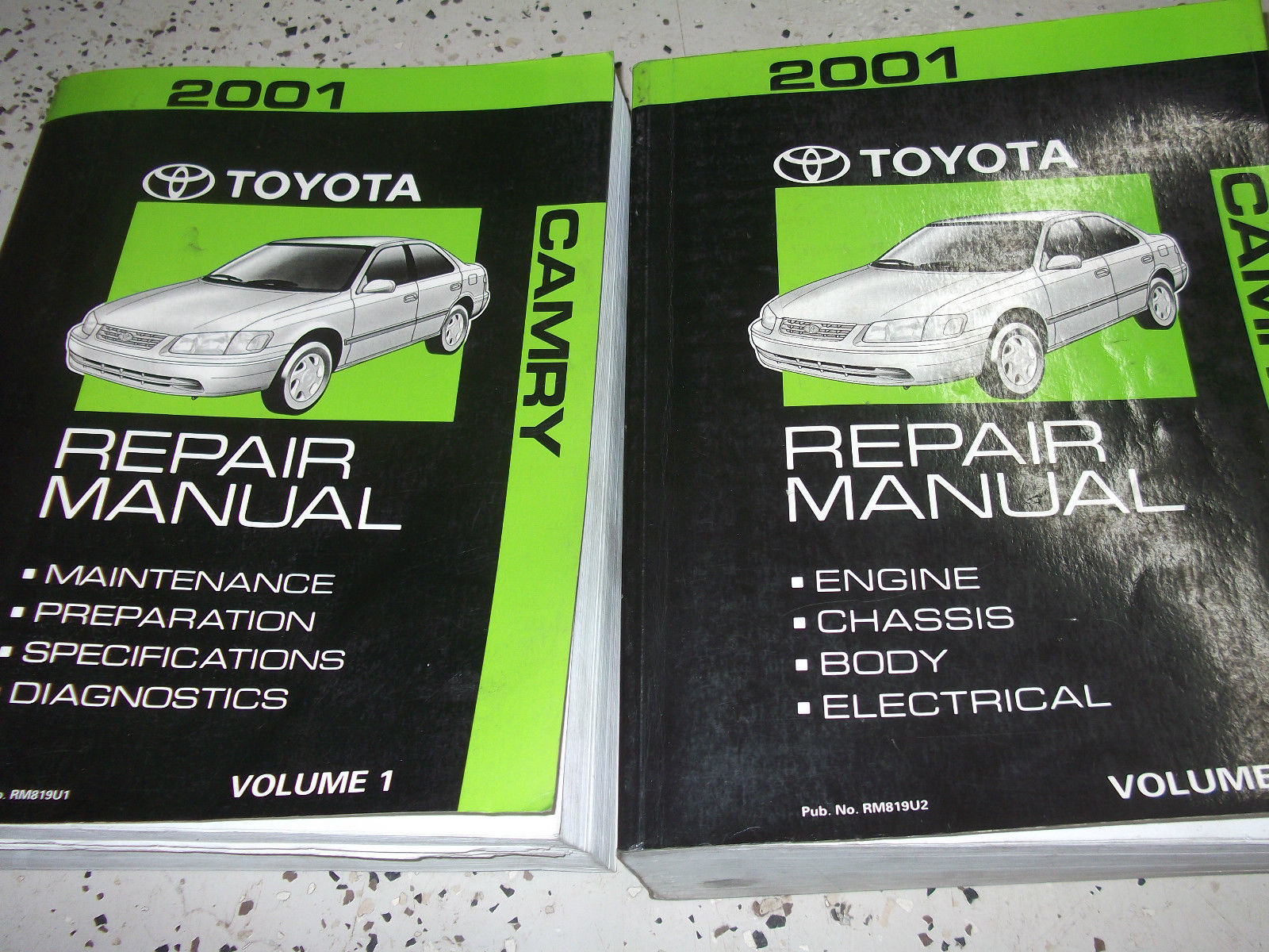 Primary image for 2001 TOYOTA CAMRY Service Shop Repair Workshop Manual Set FACTORY NEW