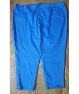 LANE BRYANT Women's Size 28 Plus Genius fit Skinny stretch ankle zip Pan... - $16.34