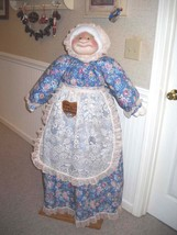 Vacuum Cleaner Cover Soft Sculpture Blue and Mauve Victorian Print - $85.00
