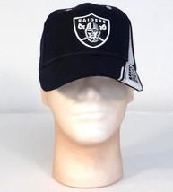 Reebok NFL Oakland Raiders Black Wool Blend Baseball Cap Adult One Size NWT - $39.59