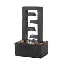 Small Water Fountains, Small Tabletop Fountains Indoor Waterfalls With Led - $36.18