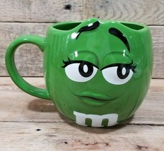 M&M's World Green Mug Coffee Character Oversize Mug 2016 - $10.84