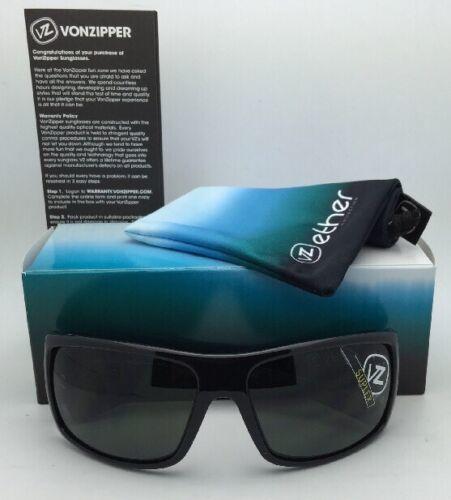 New ETHER Collection VONZIPPER Sunglasses SUPLEX Shiny Black Frame w/Grey Lenses image 2