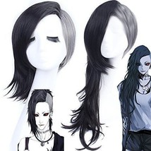 Japan Anime Tokyo Ghoul Uta Wig Black and White Cosplay Convention Wig +Hair Cap - $16.82