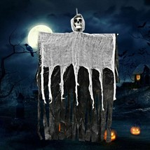 Creepy Skeleton Face Hanging Ghost Halloween Decoration Horror Haunted H... - $18.85