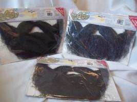 Beard Costume Brown Black or Grey Choose The Miner 49er  Self Adhesive  Forum - $10.99