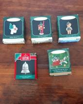 5 Assorted Hallmark Keepsake Ornaments Miniature Teddy-Bear Thimble Bell... - $19.34