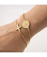 Stainless Steel Saint Benedict Medal Cross Charm Gold/Silver Religious B... - $12.90