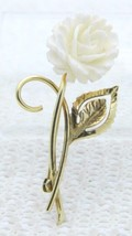 VTG WINARD 1/20 12k Gold Filled Cream Colored Carved Bovine Bone Flower Pin - $39.60