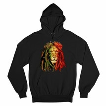 Lion with Dreadlocks Sweatshirt Rastafari Jah Jamaica Marijuana 420 Hoodie - $27.07+