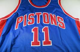 ISIAH THOMAS / NBA HALL OF FAME / AUTOGRAPHED DETROIT PISTONS CUSTOM JERSEY COA image 2