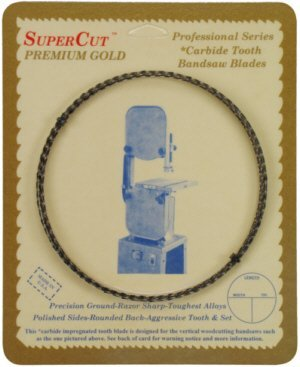 "Primary image for SuperCut B119.5G14H6 Carbide Impregnated Bandsaw Blade, 119-1/2"" Long - 1/4"" Wid"