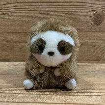 Aurora Sloth Plush Stuffed Animal Brown White Face 2018 6in - $9.50