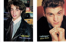 Joey Lawrence teen magazine pinup clipping Bop Tiger Beat Leather Jacket