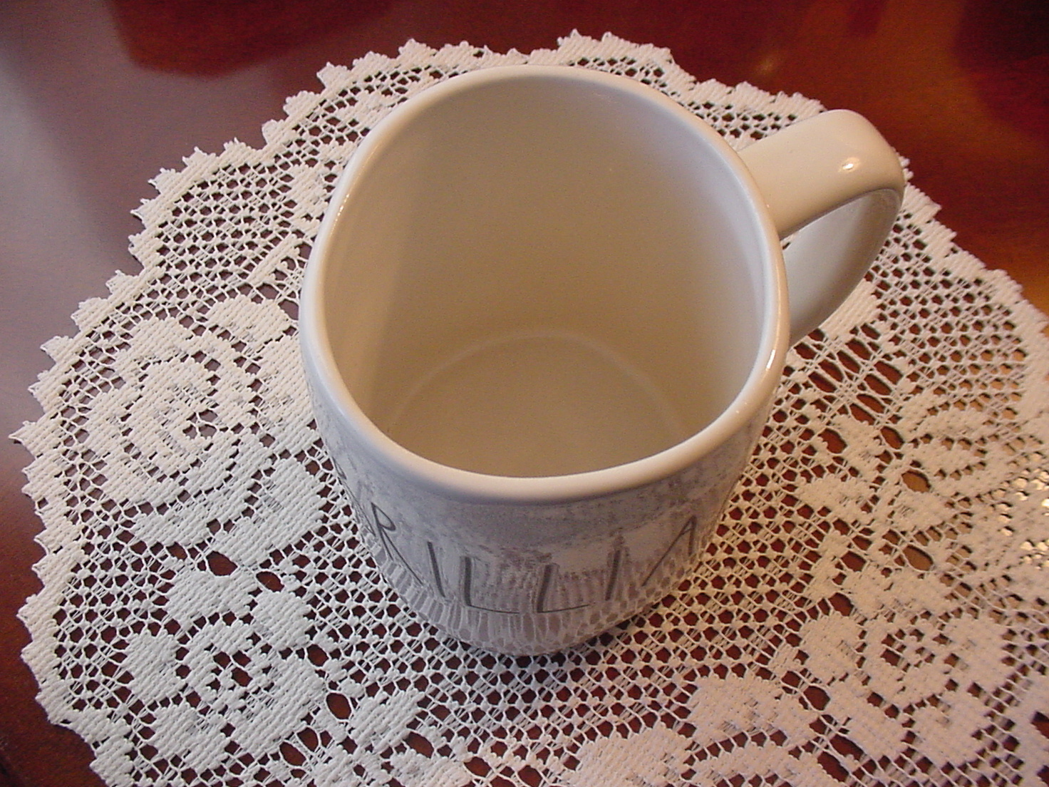 Rae Dunn BRILLIANT Rustic Mug, Ivory with Black Letters, New!