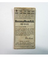 Vintage 1914 Boston & Maine RR Railroad 500 Mile Used Train Ticket Book ... - $14.99