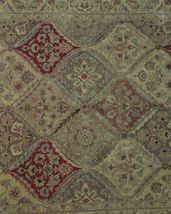 5x7 Multi-Color Oushak Wool Handmade Checked All-Over Transitional Area Rug image 10