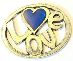 LOVE Fine Pewter Pendant Approx. 1-1/2 inches wide image 4