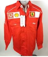 FILA Ferrari Size M Shirt Formula 1 Official Pit Crew Mila New - $183.14