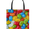 Jelly Beans Allover Everyday Tote Bag Candy Shoulder Carry Double Sided Print