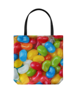 Jelly Beans Allover Everyday Tote Bag Candy Shoulder Carry Double Sided Print - €17,60 EUR