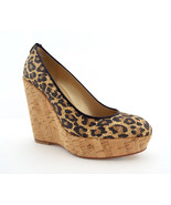 New STUART WEITZMAN Size 6 CORKSWOON Leopard Wedge Cork Heels Shoes - $239.00