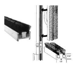 Commercial Entrance Door Astragal Weatherstripping - 96 in long - $98.95