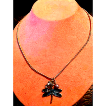 Vintage Dragonfly Necklace - $9.90
