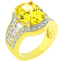 Yellow Cubic Zirconia Cocktail Ring - $40.00