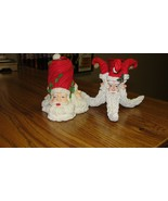 Authentic Christmas Santa Claus Candleholder Candle Holder - 1 Pair - $15.25