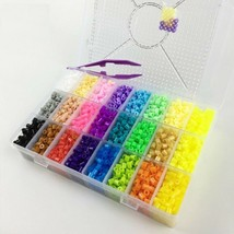 Plus Size Pegboard Ironing Beads Hama 5000PC Perler 5mm 24 Colors Box Se... - $41.99