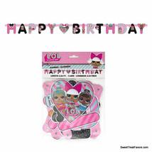 LOL Surprise Dolls Happy Birthday Letter Banner Decoration Supplies Girl... - $8.89