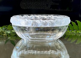 """Lalique Heavy French Crystal Bowl Mint Condition Signed Gorgeous 9.5"""" Wide - $886.05"""