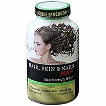 Purvana MAX by Wellgenix 5000mcg Hair Skin and Nails 90 veggie capsules image 2