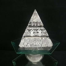 Waterford Faceted Pyramid Paperweight, Retired, Signed w/older Waterford Etched - $58.00