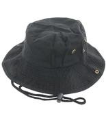 Black Boonie Bucket Hat Cap Fishing Hunting Summer Men Sun 100% Cotton S... - $21.90