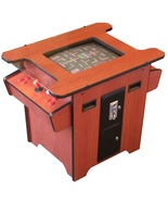 Arcade Mall Retro 80s Coin Op CHERRY WOOD LCD Cocktail Table Game Machine  - $2,250.00