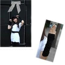 Women Wrinkle Glove Stretch Arm Wrap Warmer Long Fingerless Knit Outdoor... - $1.92